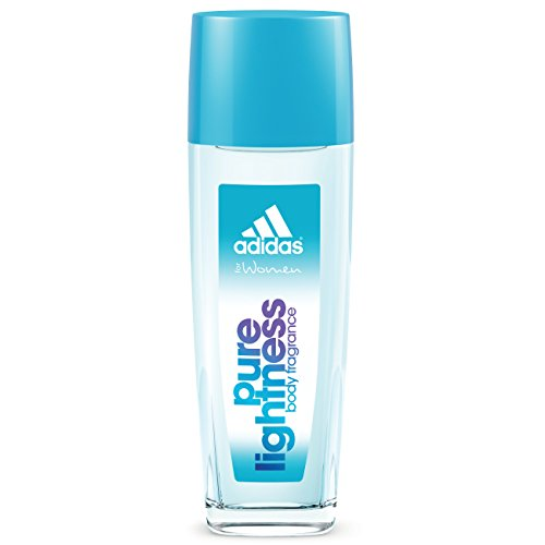 Womens Pure Perfume Spray (Adidas Body Fragrance Pure Lightness, For Women, 2.5 Fluid Ounce Spray Bottle, Body Spray for Everyday Use Floral Fragrance)