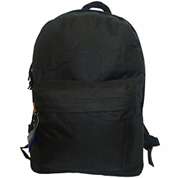 d8804b25f222 Classic Bookbag Basic Backpack Simple School Book Bag Casual Student Daily  Daypack 18 Inch with Curved
