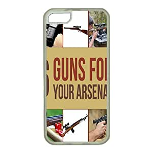 iPhone 5 pc transparent case,popular iPhone 5 Unique design Case with 6 Survival Guns For Your Arsenal