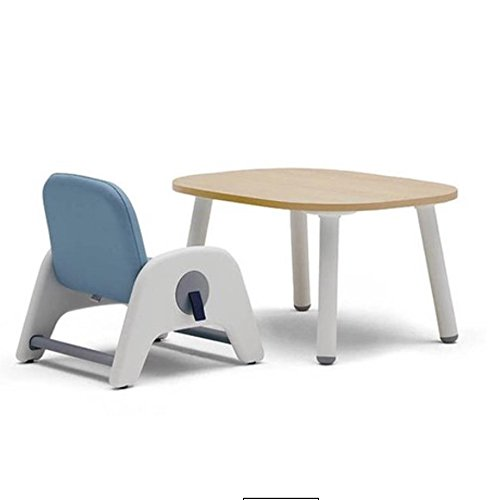 SIDIZ ATTI Toddler/Children Height Adjustable Chair&Table Set with Footrest, Synthetic Leather (Lavender Blue) by SIDIZ