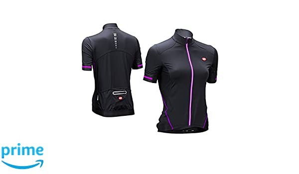Bellwether Optime Women/'s Road Cycling Jersey Black//Fuchsia Small