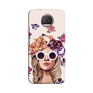 Cover It Up Flower Head Pink Hard Case For Moto G5S Plus
