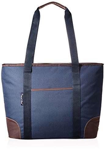 Picnic at Ascot Extra Large Insulated Cooler Bag – 30 Can Tote – Trellis Blue
