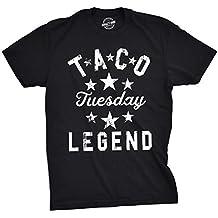 Mens Taco Tuesday Legend Tshirt Funny Cinco De Mayo Dinner Tee for Guys