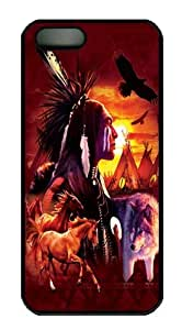 BESTER iPhone 5S Case,Indian Collage PC case Cover for iPhone 5 and iPhone 5s Black