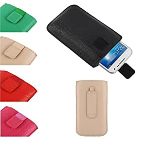 DFV mobile - Pouch case lines embossing + belt clip + pull tab velcro > huawei honor 6 advanced