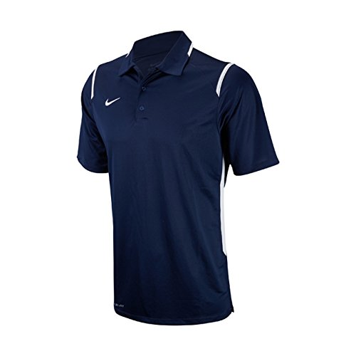 Dri Fit Game (Nike Men's Dri-Fit Game Day Navy/White Short Sleeve Polo T-Shirt Sz: XL)