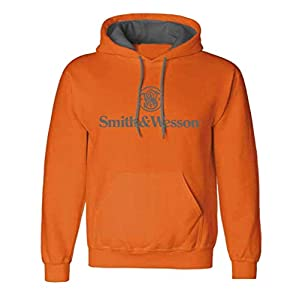 S&W Traditional Logo Pullover Hoodie in Antique Harvest – Officially Licensed