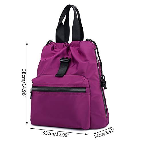 Dos Black à Purple Xuniu Femmes en pour Sac Nylon STnxAPq