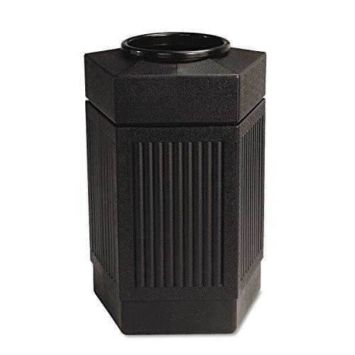 Safco 9485BL Canmeleon Indoor/Outdoor Receptacle Pentagon Polyethylene 30gal Black