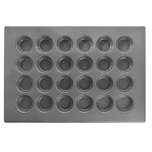 HUBERT 5 oz Aluminized Steel 24 Cup Large Muffin Pan with Silicone Glaze - 17 7/8''L x 25 7/8''W x 1 1/4''D by Hubert
