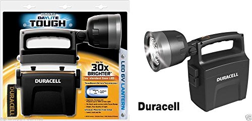 W8D- DURACELLTM DAYLITE TOUGH LED 6V CAMPING LANTERN SECURITY TORCH SPOTLIGHT