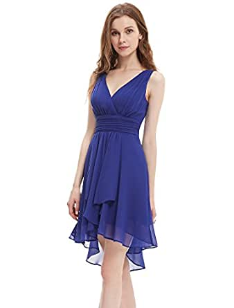 Ever Pretty Womens Open Back Short High Low Party Dress 6 US Sapphire Blue