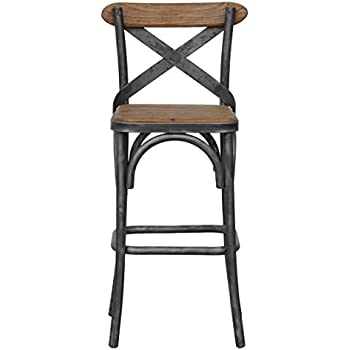 Amazon Com Acme Furniture 96642 Zaire Bar Chair Walnut