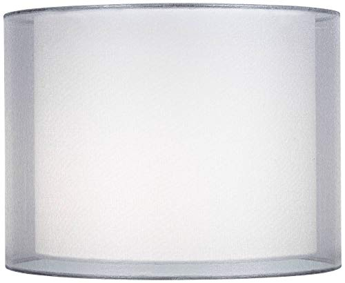 Silver and White Double Sheer Shade 12x12x9 (Spider) - Springcrest (Double Shade)