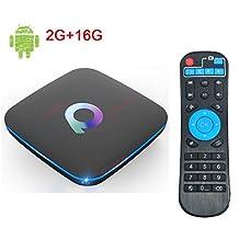 2018 Q Box Android 6.0 TV BOX 2G 16G Q-BOX Quad Core 3D 4K Wifi LAN with Bluetooth 4.0 Smart TV Box
