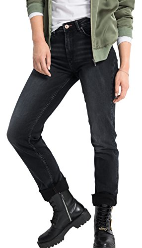 HIS Jeans Coletta, Vaqueros Straight para Mujer Schwarz (Advanced Blue Black Wash 9722)