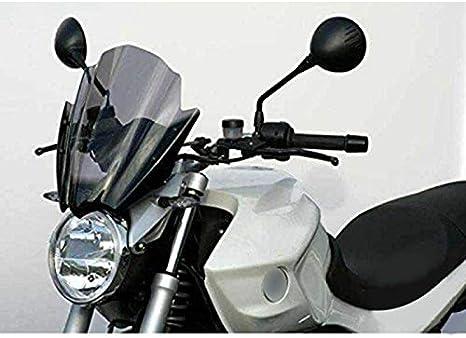 Andifany Parabrisas Moto Universal Pare-Brise Pare-Brise 7//8 Pouces et Guidon 1 Pouce pour Benelli Kawasaki Fz6
