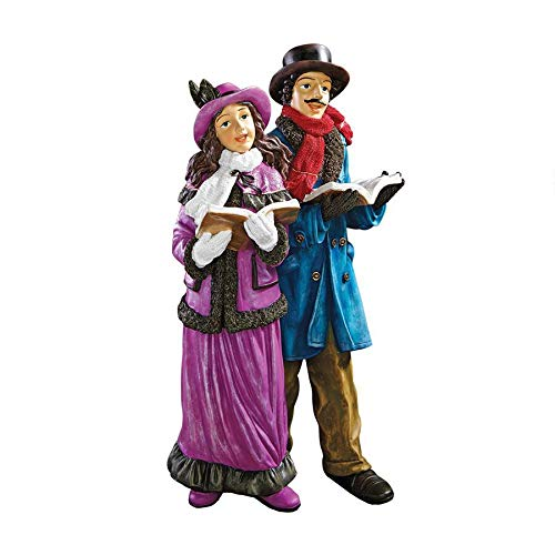 Christmas Decorations - Charles Dickens Victorian Christmas Carolers Holiday Decor Statue