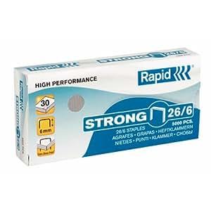 Rapid Standard - Pack de 5000 grapas 26/6, 6 mm