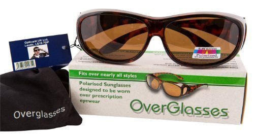 Brown Polarised Overglasses - turn prescription glasses into sunglasses in an instant! by - Overglasses Polarised