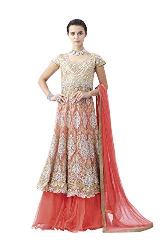 PCC Indian Women Designer Wedding peach Lehenga Choli K-4529-39519