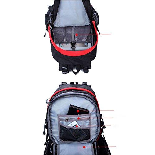 40L bolsa de deporte ocio de la manera hombres y mujeres al aire libre del alpinismo mochila mochila de senderismo rojo