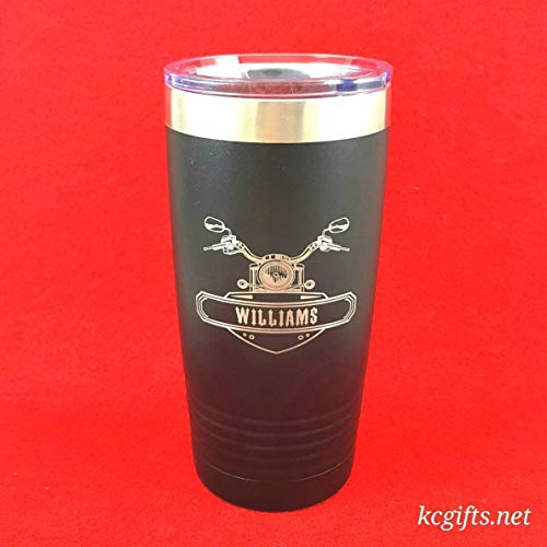 Personalized Insulated Travel Mug - Motorcycle - Polar Camel or YETI Rambler Insulated Mug, ENGRAVED - NO DECALS! - FREE SHIPPING