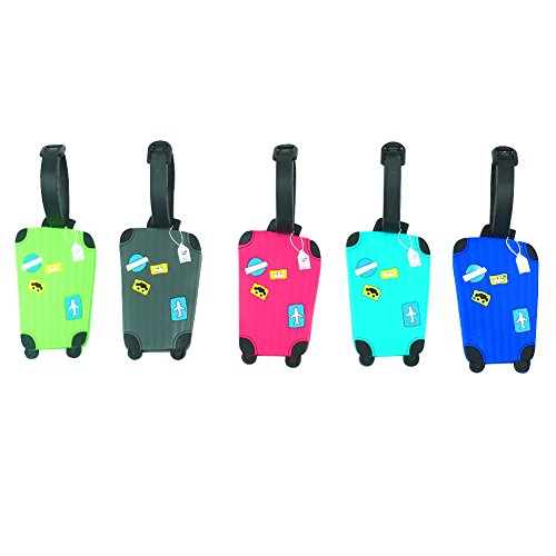Blummy 5 pcs Luggage Tags ID Tags for Travel Identifier and