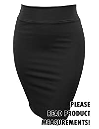 Women's Plus Size Classic Knee Length Stretch Pencil Skirt Business Casual