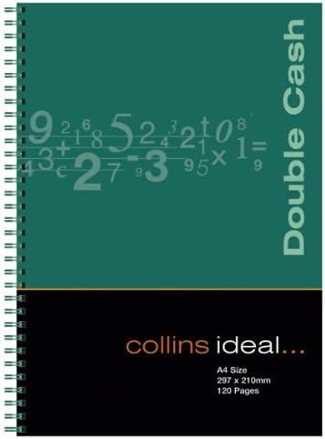 Collins Ideal Wiro - Cuaderno de anillas para contabilidad (tamaño A4, 120 páginas, hojas blancas), multicolor