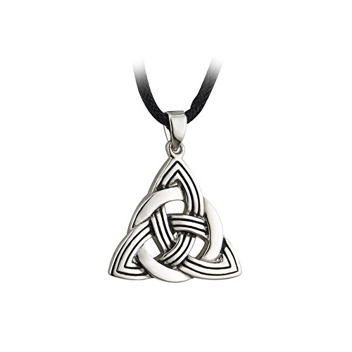 (Biddy Murphy Trinity Knot Necklace Celtic Irish Pewter Style Pendant Made in Ireland)
