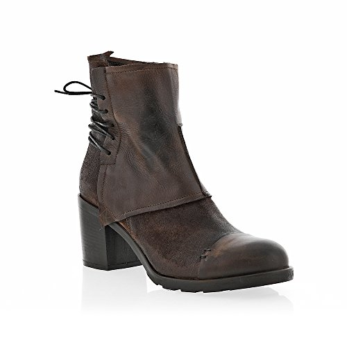 8100 Melrose Brun Laceback Zip Boot Brown