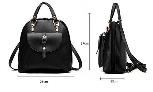 Red Bao Shoulder da Lady Black fashion Rose viaggio Bag Handbag Zaino qTnFqR1