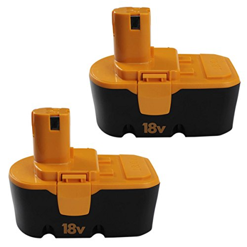 2Packs 18V 3.0Ah Battery Replace for Ryobi ONE+ P100 P101 High Capacity Cordless Power Tools
