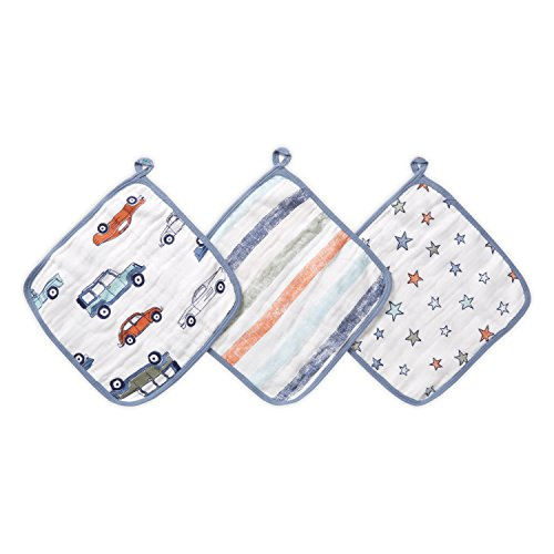 - Aden by Aden + Anais washcloths 3 Pack, hit The Road