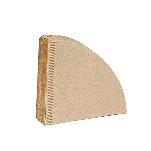 100Pcs 102 Coffee Filter Paper Natural Unbleached Original Wooden Drip Paper