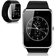 Gt08 Bluetooth Smart Watch Phone Touch Screge Android Mobile Phone (GT08 SILVER BLACK BAND)