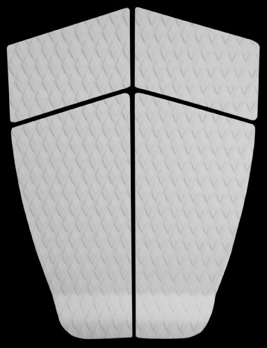 PUNT SURF Longboard & SUP Traction Pad with Tail Kick and 3M Adhesive - 4 Piece Stomp Pad for Longboards, Funboards, Standup Paddleboards & Fishes.