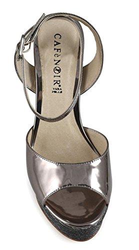 Sandalo In Cafè Laminato Gilda E Taglia 35 Glitter Lg915 Noir IEU6O