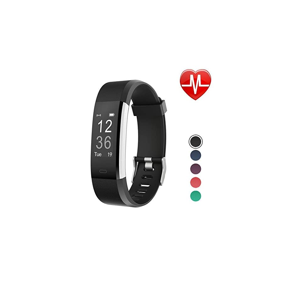 LETSCOM Fitness Tracker HR, Activity Tracker Watch Heart Rate Monitor, Waterproof Smart Bracelet Step Counter, Calorie Counter, Pedometer Watch Kids Women Men, Android & iOS…