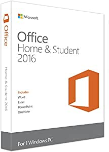 Microsoft Office Home and Student 2016 (1 PC) Product Key Card