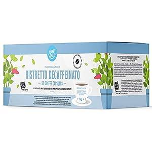 Marchio Amazon - Happy Belly  Ristretto Decaffeinato Caffè UTZ tostato, macinato e decaffeinato in capsule, compostabili, compatibili Nespresso, 5 x 10 capsule (50 capsule)