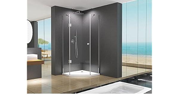 Mampara de ducha Sofia 90 x 190 cm entrada por la esquina/8 mm/sin de ducha: Amazon.es: Bricolaje y herramientas