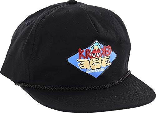 Krooked Skateboards Arketype Black Hat - Adjustable 00c0c73df897