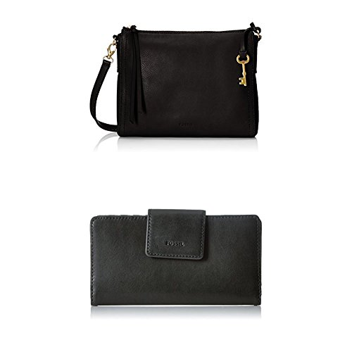 Fossil Emma E/W Crossbody with Emma Tab Wallet Rfid, Black by Fossil