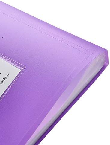 con copertina flessibile 62 tasche 124//tasche laterali Arpan professionisti scuole colori assortiti x 1 per individui aziende uffici Raccoglitore per presentazioni formato A4 universit/à