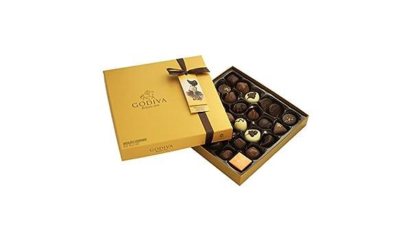 Godiva, Gold Rigid Box bombones pralines surtidos caja regalo 24 ...