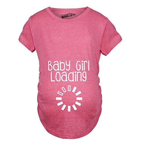 Maternity Baby Girl Loading Tshirt Funny Pregnancy Announcment Tee (Pink) -XXL (Womens Baby T-shirt)