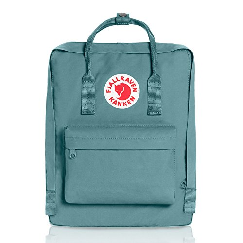 Fjallraven - Kanken Classic Pack, Heritage and Responsibility Since 1960, One Size,Sky (Glacier Blue Handle)
